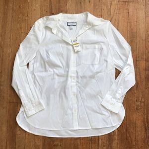 NWT Charter Club Petites Classic White Button Down